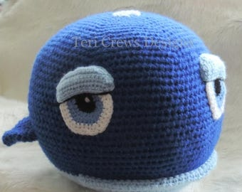 Summer Sale Whale Buddy Crochet Pattern Instant Download PDF format by Teri Crews