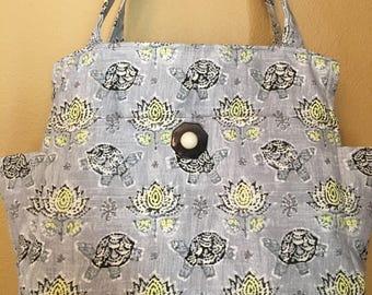 Katrina#1789, Turtle Bag, Turtle Project Tote, Turtle Knitting Bag, Large Project Tote, Large Knitting Bag, Knitting Bags, Project Bags, Bag