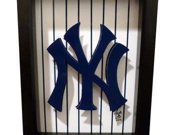 New York Yankees Logo New York Yankees Print 3D Pop Art NY Baseball Print Artwork City NYC Yankees Art Yankees Print