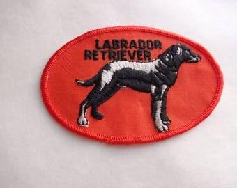 Vintage 1980s Labrador Retriever Patch