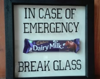 Wooden Deep Box Frame In Case Of Emergency Break Glass