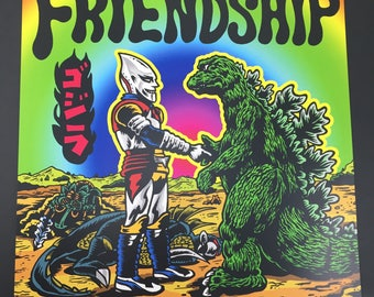 Kaiju Friendship Forever Print