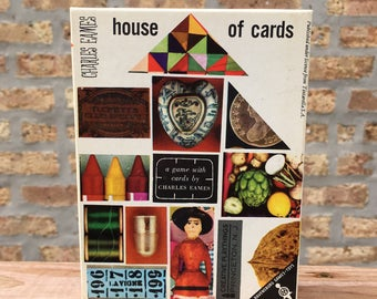 Charles Eames House of Cards game Western Germany 1950's Thoroughbred Evans Black Carpets by Armstrong promotional set excellent condition