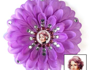 Amilyn Holdo Star Wars Purple Penny Blossom Rhinestone Flower Barrette