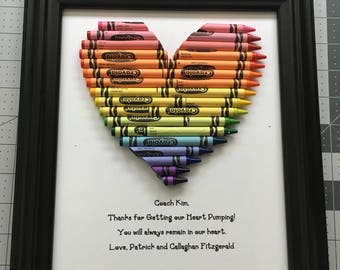 Crayon Teacher Appreciation Gift - PE Teacher - Fast Shipping! 8 by 10