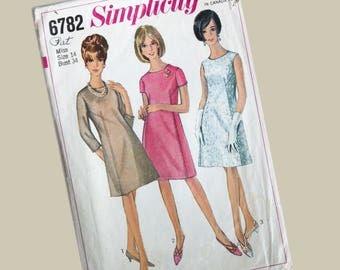 Simplicity Dress Pattern, Miss size 14, Bust 34