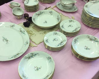 Antique Limoges Dinnerware William Guerin service for 8