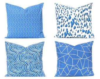 Royal Blue Pillow Covers - Decorative Pillow Covers - Sofa Pillow Covers - Royal Blue Bedding - Throw Pillow Cover - Designer Pillows