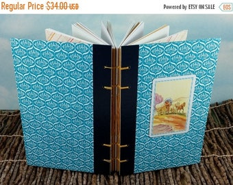 Travel Sale Covered Wagon Pioneer Scene Writing Journal with Vintage Western Playing Card on Readers Digest Hardcover