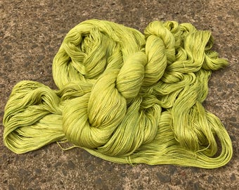 Leah. Silk / Cotton Lace Yarn. Chartreuse