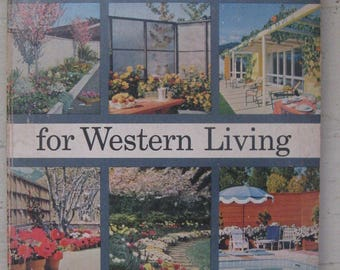 landscaping for western living soft cover 1958 first edition mid century landscaping