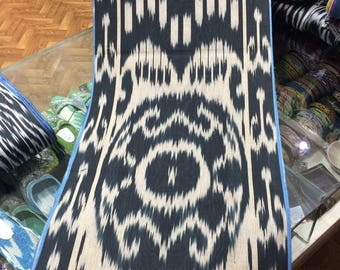 Uzbek handwoven cotton ikat fabric by meter. Tribal, ethnic fabric