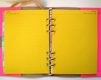 Day Per Page Planner Paper, 12 Month Set