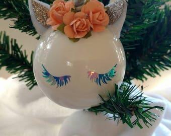 Unicorn ornament - personalized unicorn ornament - customized unicorn ornament - keepsake ornament -