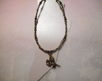 Antique Bronze Dragon Ankle Bracelet