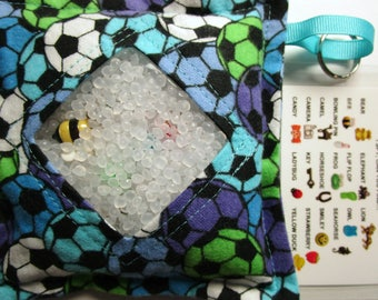 I Spy Bag, Soccer, Neutral, eye spy, busy bag, seek and find toy game, gift, sensory occupational therapy, travel toy, fidget stimming