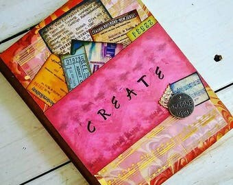 Create Journal Art Journal Keepsake with Unlined Pages