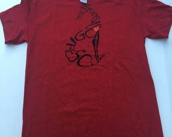 2XL - Antique Cherry Red Rescue T-shirt