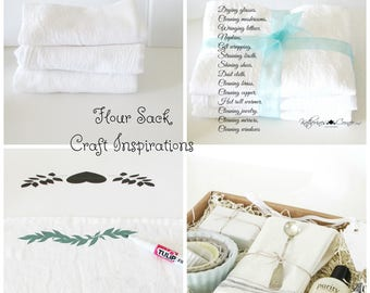 Cotton Flour Sack Towels, Craft Towel, Craft Fabric, Stencil Towel