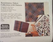 Vintage Jinny Beyer Quilt Fabric Kit