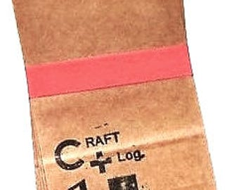 Waxed Kraft Paper Bags (5) * 3 1/2 x 6 5/8 * gusseted * Classiky * packaging * bags