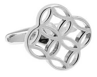 Silver Floral Cufflinks