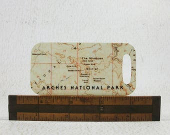 Arches National Park Luggage Tag Utah Unique Gift for Hiker Canyoneer Explorer Traveler Backpack Tag