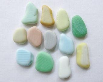 English Sea Glass - Milk Glass Colours - Lot DC899