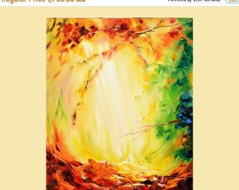 70% off Painting ORIGINAL Colorful painting impasto painting Modern painting bright colors red, orange  painting ready to hang gift
