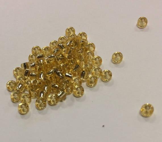 Size 8/0 Miyuki Seed Bead Silverlined Gold 15g