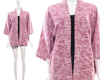MOVING SALE Vintage 60s Pink Watercolor ABSTRACT Advant Garde Art Print Kimono