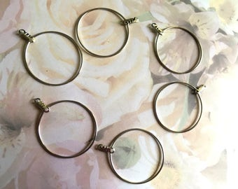Beading Hoop Lot of 3 Pair, 30mm, Findings, Silver Plate, Gift Idea 4 Her, Beading Hoops, Jewelry Making, Beading Supply, Supply, Destash