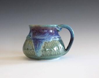 Pottery Mug, 14 oz, pottery mug, unique coffee mug, handmade ceramic cup, tea cup, coffee cup, handthrown mug, stoneware mug
