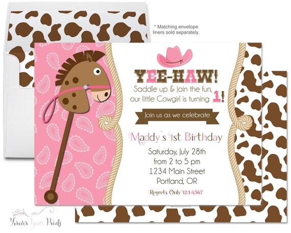 Cowgirl Birthday Invitation Cowgirl Party Invite Cowgirl Party – Cowgirl Party Invites