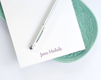 Personalized Large Notepad / Notepad with Modern Script Name / Customized Large Notepad / A9 Desk Pad / Half-Sheet Notepad with Name