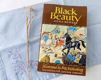 1983 Black Beauty. Anna Sewell and Fritz Eichenberg. Illustrated Junior Library. Grosset and Dunlap. Horse Book. Vintage Kid's Classic.