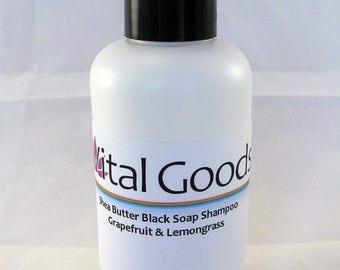 ON SALE dreadlock shampoo Shea Butter Black Soap Shampoo Grapefruit Lemongrass 4oz