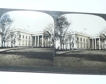 1901 Stereoview North Front of White House, Washington, DC, H.C. White