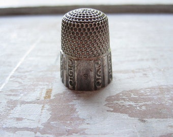 Sterling Thimble