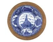 Antique Flow Blue Plate V...