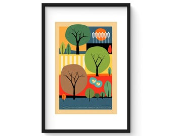 The Creation of a Thousand Forests is in One Acorn - Mid Century Modern Style Art Print