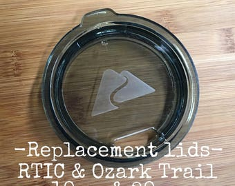 Ready to ship - Replacement lid for 10 oz, 20 oz Ozark Trail, RTIC or YETI Stainless Steel Tumbler, Cup