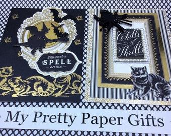 Anna Griffin Halloween Card Kit, 3D Paper Embellishments, Layered Paper Embellishments for Cards, Tags,Scrapbook, Paper Crafts