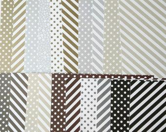 Stampin' Up! Retired Neutrals DSP Designer Series Paper 6 x 6 double-sided sheet 20 Sheet Sampler