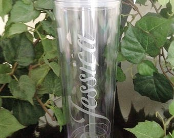 Personalized Skinny Acrylic Tumbler GIFT WRAPPED, Tumbler with Straw, Girls weekend gift, Bridesmaid Tumblers
