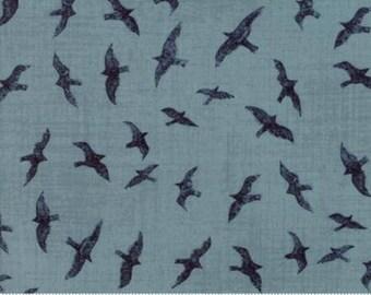 Ahoy Me Hearties Moda Fabric, Gulls Wave Blue, Nautical Decor, Coastal Home Decor, Nautical Nursery, Nature Inspired, Beach Decor, Sea Gulls