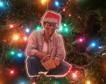 RED Morgan Freeman SHAWSHANK REDEMPTION Christmas Ornament!