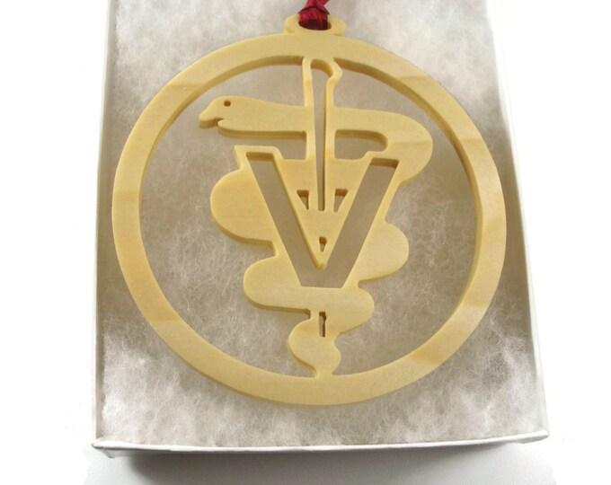 Veterinarian Christmas Ornament Handmade From Poplar Wood By KevsKrafts BN-002-5