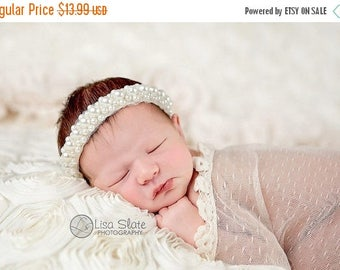 10% SALE Baptism headband Newborn Headbands  Baby Headband  wedding headband christening headband photo prop teen headband headband baby Bab