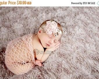 12% off SALE headband normally 12.99 is 2.00 off Baby headband, newborn headband, , child headband and photography prop - Daisy chiffon